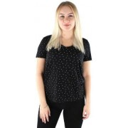 JACQUELINE de YONG JDY T-shirt Cloud v-neck svart