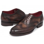 Paul Parkman Wingtip Goodyear Welted Oxford Shoes Brown 027-BRW