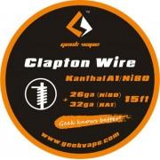 GeekVape Clapton DIY Kanthal KA1/Ni80 Wire (26GA Ni80 + 32GA)