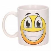 Shoppartners Vrolijke smiley mok / beker 300 ml
