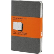 Moleskine Pebble Grey Ruled Cahier Pocket Journal (3 Set), Hardcover