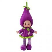 Cute Plush Toy Music Singing Doll Baby Musical Soft Stuffed Dolls Eggplant