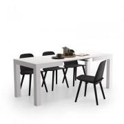 Mobili Fiver Mesa de cocina extensible, modelo First, color Fresno Blanco