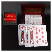 Creative Frosted Silver Tattice Textura De Plástico De Las Vegas A Macao Naipes De Poker Texas Con Caja De Regalo