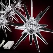 Vánoční osvětlení - hvězdy - studená bílá, 7 světelných funkcí