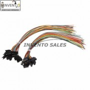 Invento 8pcs - 4 sets 6 pin Male Female 6 wire JST Connector Cable Lock Type for LED Lights DIY Projects