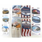 United States, Fifty State, Souvenir Playing Cards, Vacation Gift, Card Faces Feature Multiple Landmarks, Oustsanding Tourist Gift. The Two Deck Set Includes a Silver Gift Ribbon by Shopitivity LLC