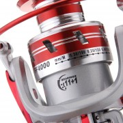 11BB Ball Bearings Left/Right Interchangeable Collapsible Handle Metal Fishing Spinning Reel 5.1:1 Red