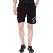 Cliths Men's Line Printed Short/Black Casual Shorts For Men