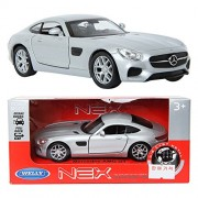 WELLY 1:34 Mercedes-Benz AMG GT / Silver / Toy / DIE-CAST Toy Model cars