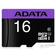 Adata Premier 16GB microSDHC memorijska kartica + adapter, Class 10, UHS-I (AUSDH16GUICL10A1-RA1)