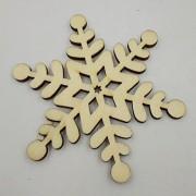 ELECTROPRIME 10 Hexagon Snowflake Wooden Embellishment Xmas Tree Decoration w String