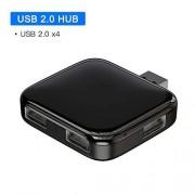 MZNEO USB HUB a 4 Puertos USB 2.0 USB HUB Divisor USB portátil para MacBook Pro Accesorios para portátiles OTG HUB USB, USB 2.0 HUB
