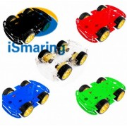 Generic Red : Official iSmaring New 5 Colors 4WD Smart Robot Car Chassis Kit for Arduino with Speed Encoder Diy Wheeled Robotic Car Chassis Di