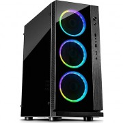 Carcasa Inter-Tech W-III RGB, ATX Mid Tower, fara sursa