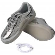 ER Coloridas Luces LED De Carga USB Brillando Zapatos Para Hombres/mujeres Sneakers
