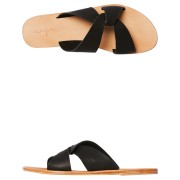 Urge Lenni Leather Slide Black