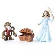 Spin Master Pirates of The Caribbean - Figure Set Monkey Jack, Carina & Treasure Chest