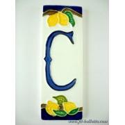 Numero civico ceramica con limoni nl13