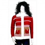 Ladies Collar Knitted Sweater