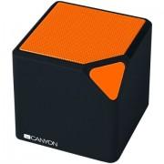 SPEAKER, CANYON CNE-CBTSP2BO, Bluetooth V4.2+EDR, 3.5mm Aux, bulit in 300mA battery, Black and Orange (5291485002428)