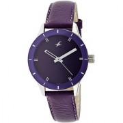 Fastrack Monochrome Analog Purple Dial Womens Watch - 6078SL05