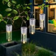 Esotec Aussenleuchten LED-Solar-Hängeleuchten Smart Sticks, 4er Set