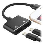 2-in-1 Charge %26 Audio Lightning Adapter - Black