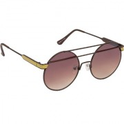 Arzonai Retro Round Shape Brown-Brown UV Protection Sunglasses For Women [MA-309-S2 ]