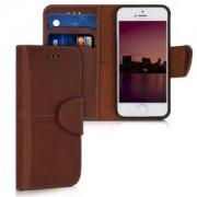 kalibri Skórzane etui flip dla Apple iPhone SE - brązowy
