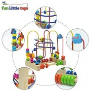 Fun Little Toys Assembled Fruit Beads Around Circle Bead Maze Educational Skill Improvement Wood Toys for Kids