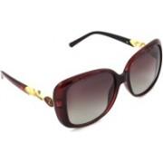 Hrinkar Polarized Rectangular Sunglasses(Pink)