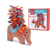 Wooden Puzzle Stacking Building Blocks Balance Board Table Game Elephant Balancing Toy Educational Gift For Kids 40 pieces