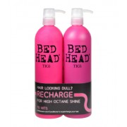 Tigi Bed Head Recharge High Octane Shampoo 750Ml Recharge Shampoo + 750Ml Recharge Conditioner Care For Shine And Recovery Of Hair 1500Ml Per Donna (Cosmetic)