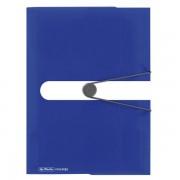 DOSAR MAPA A4 PP EOGT INCHIDERE BUTON CU ELASTIC, INTENSE BLUE albastru A4 15 mm Mapa plastic cu elastic Cu elastic