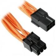 Cablu prelungitor BitFenix Alchemy 6-pini PCIe, 45cm, orange/black, BFA-MSC-6PEG45OK-RP