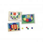 Mozaic din lemn cu culori