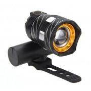 Bicikli fém első led lámpa XML-T6 Led 3 Mód 18650 USB újratölthető