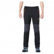 Pantalones Senderismo Hombre Softshell Escalada Pesca Invierno - Negro