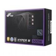 Захранване Fortron Hyper M 500, 500W, 85+, Active PFC, 120мм вентилатор