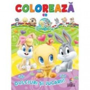 Dulciuri si jucarii Coloreaza cu Baby Looney Tunes