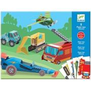 Djeco DJ09702 Paper Toys- Trucks Toy