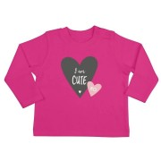 YourSurprise Baby T-shirt - Lange mouw - Fuchsia - 50/56
