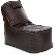 Home Story Video Rocker Lounger Bean Bag XXXL Size Chocolate Brown Color with Beans
