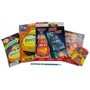 Generic Disney Pixar Cars Bundle: 5 Items Cars 3 'Speed to the Finish' and Color and Play Pictures that Come to life coloring Books Car 3 Sticker book Car 3 Play Pack and box of 24 CraZart Crayons