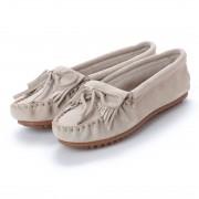 ミネトンカ Minnetonka KILTY Suede Moccasin Shoes (ストーン ベージュ) レディース