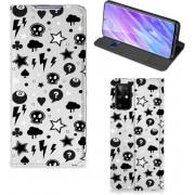 Samsung Galaxy S20 Plus Mobiel BookCase Zilver Punk