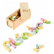 Jucarie blocuri alfabet BumbuToys, din lemn