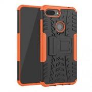 GzPuluz Casos de teléfono Cubierta a Prueba de Golpes PC + TPU Tyre Pattern Case for Xiaomi Mi 8 Lite, con Soporte (Negro) (Color : Naranja)
