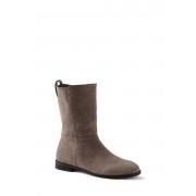 ランズエンド LANDS' END レディース・スエード・ブーツ(メープルウッド)